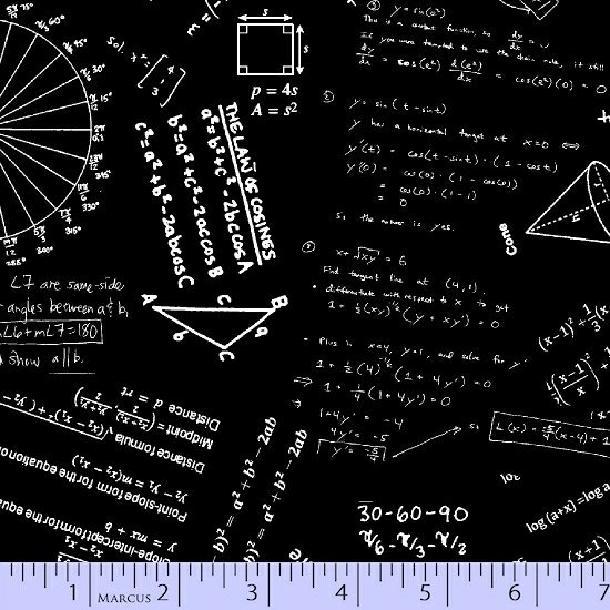 Black geometry print