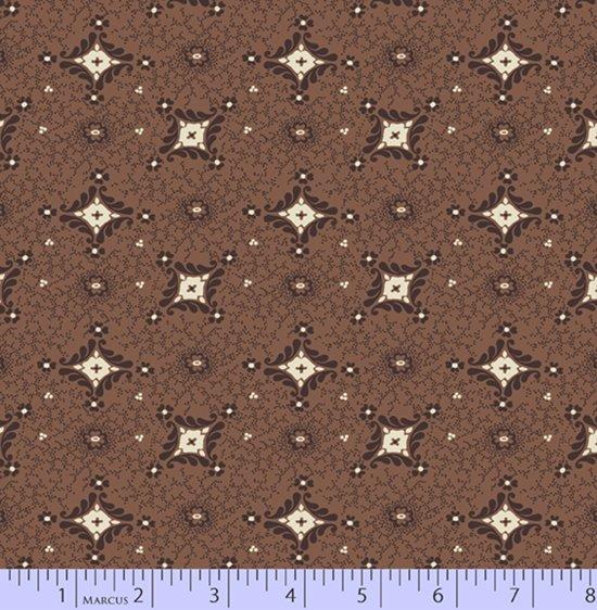Brown foulard print