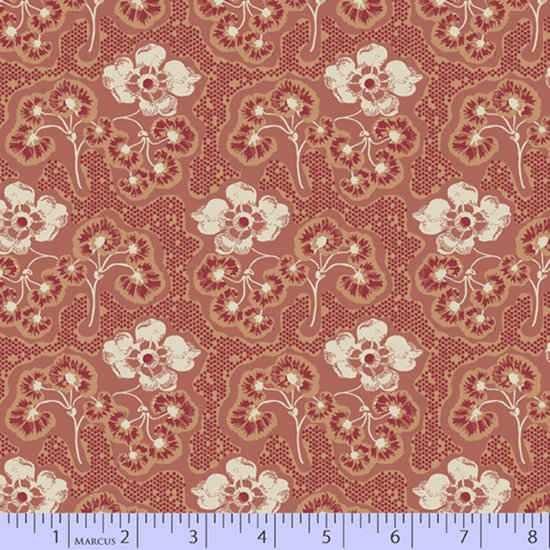 Soft red floral