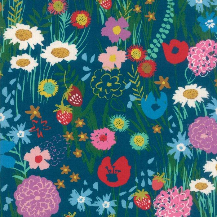 Teal wildflowers