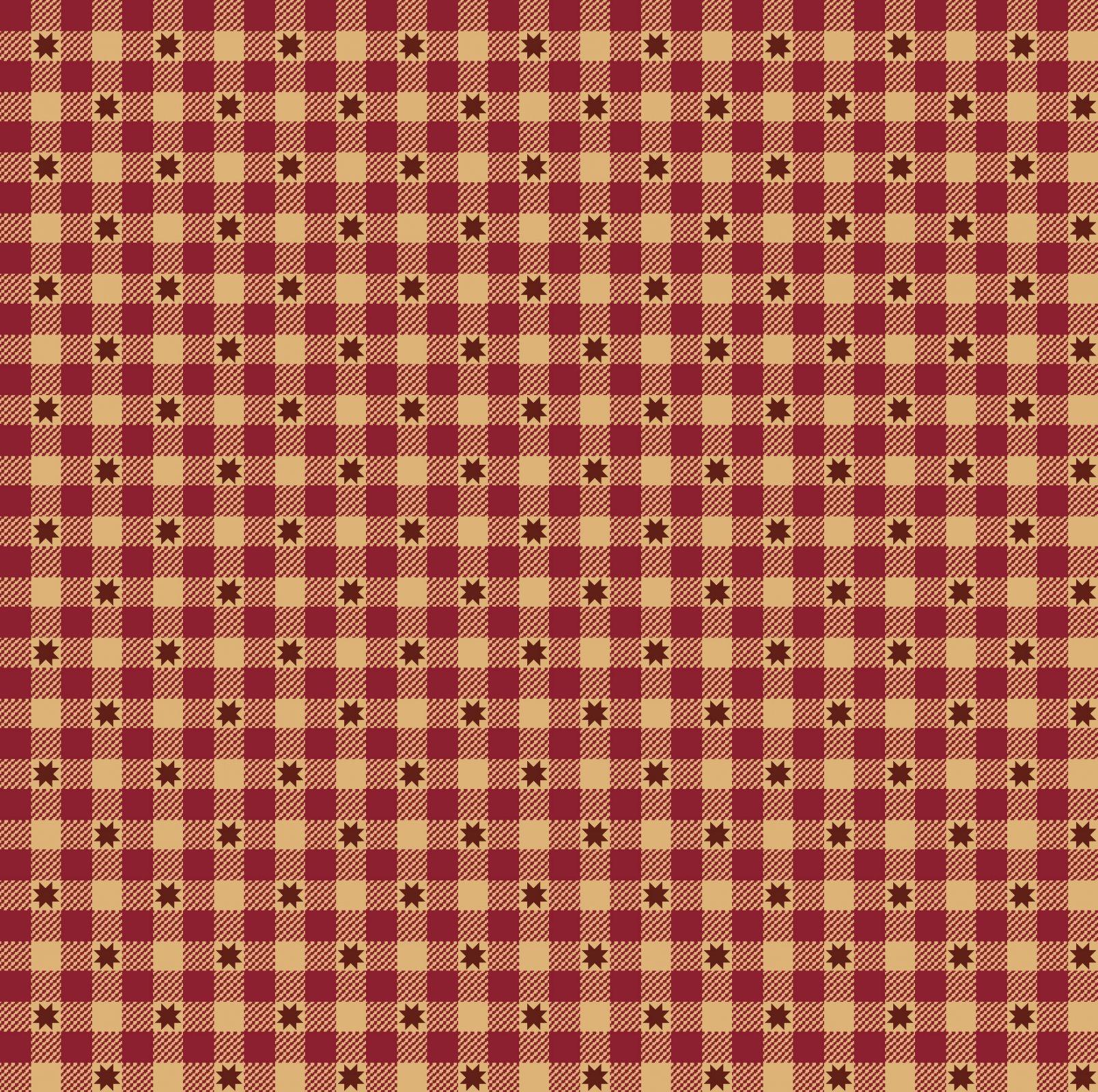 Red gingham stars