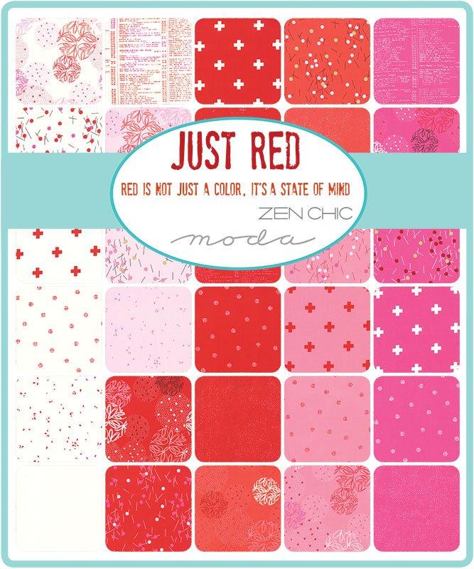 A half yard bundle of Just Red