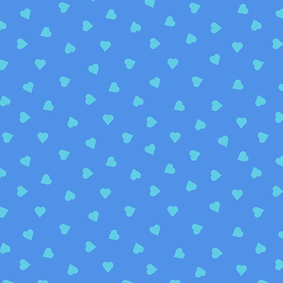 Dusty blue heart of glass