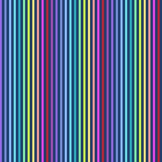 Navy rainbow stripe