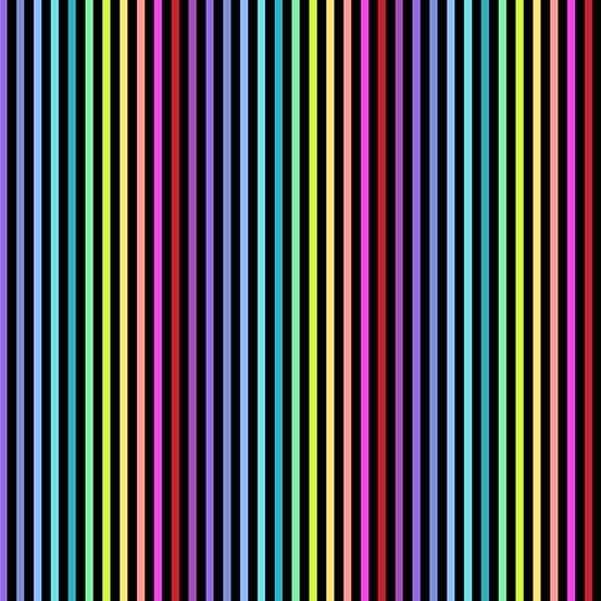 Black rainbow stripe