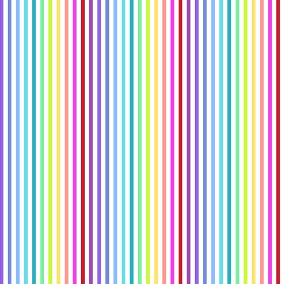 White rainbow stripe