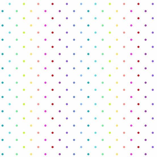 Rainbow  variegated dot on white