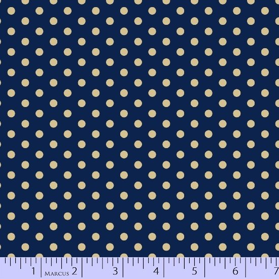 Navy medium dot