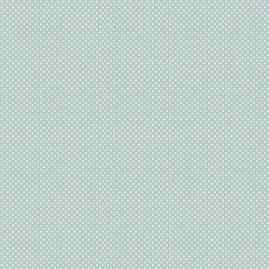 Cream & spa blue micro dot