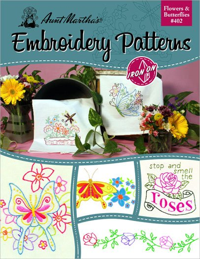 Flowers & Butterflies embroidery patterns