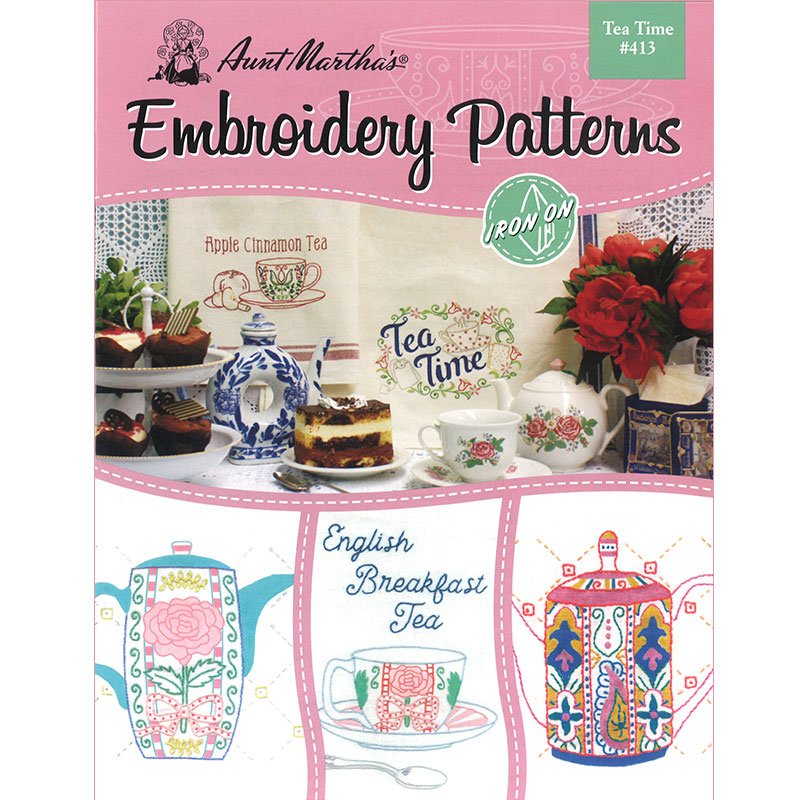 Tea Time embroidery patterns