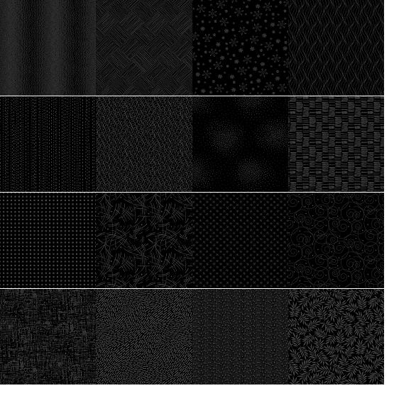 A half yard bundle of Century Black on Black