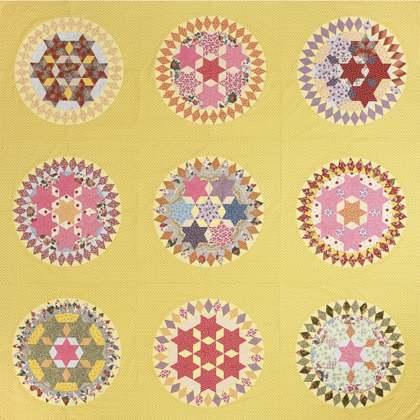 Circle of Sisters English paper piecing acrylics & papers set