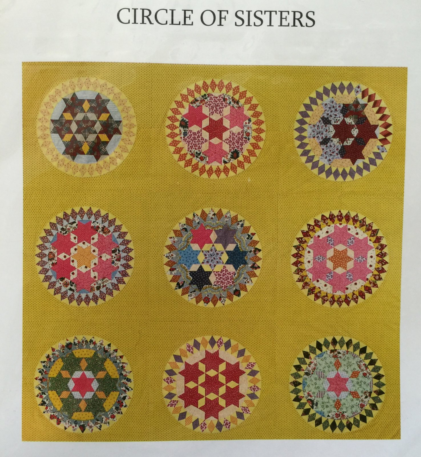 Circle of Sisters pattern with acrylics with 1/4 seam allowance