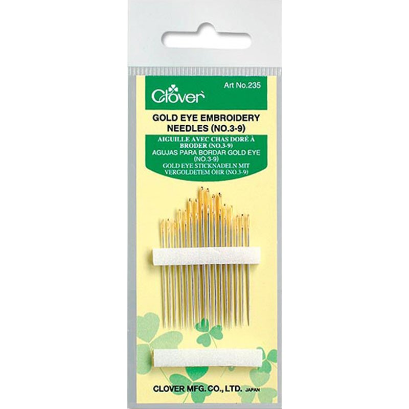 Clover embroidery needles--sizes 3-9