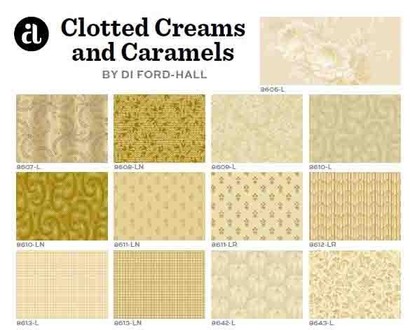 A half yard bundle of Clotted Creams & Caramels