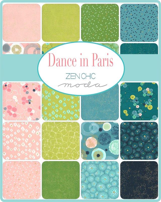 A half yard bundle of Dance in Paris
