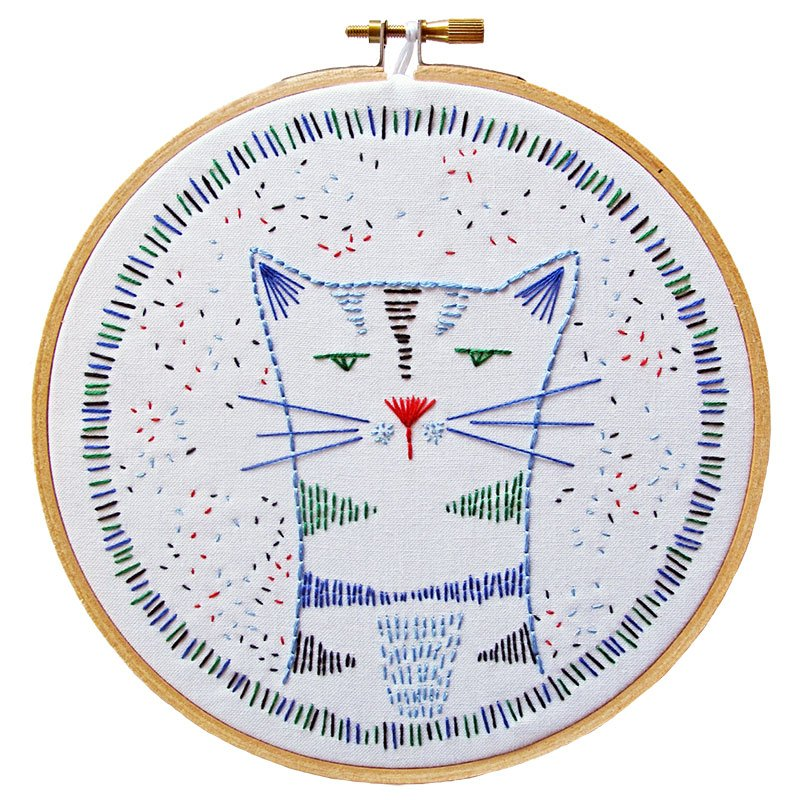 Nigel nine lives embroidery kit