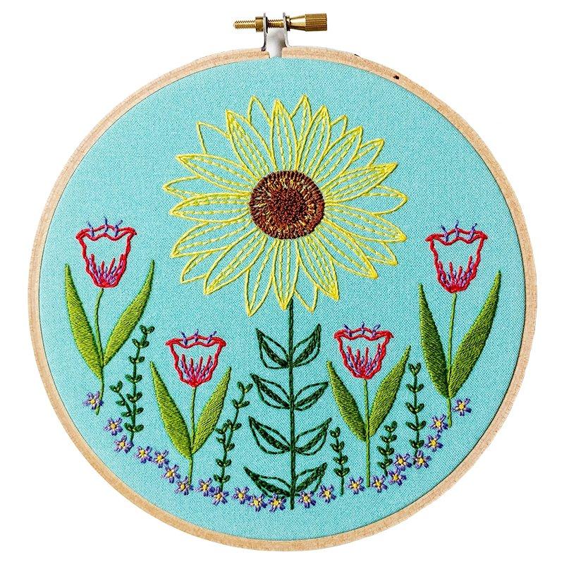 Summer garden embroidery kit