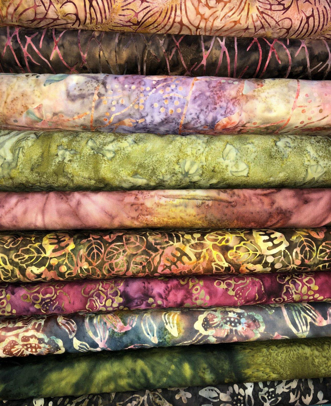 Earth-tones batik bundle
