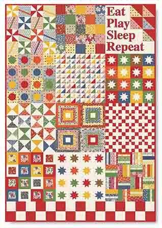 Eat, Play, Sleep, Repeat quilt kit