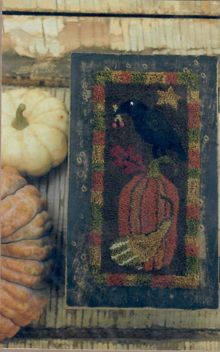 Fall Crow with Pumpkin
