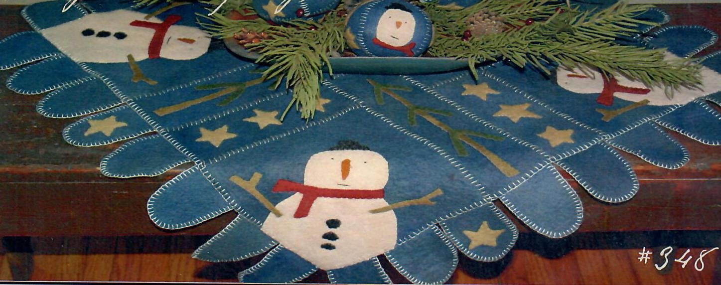Frosty and Company Table Rug
