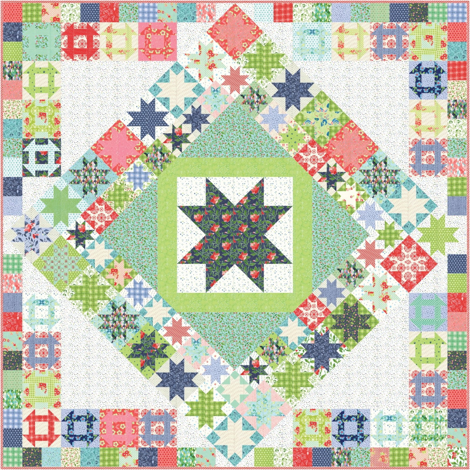 Midsummer Memories add-on pieced border kit