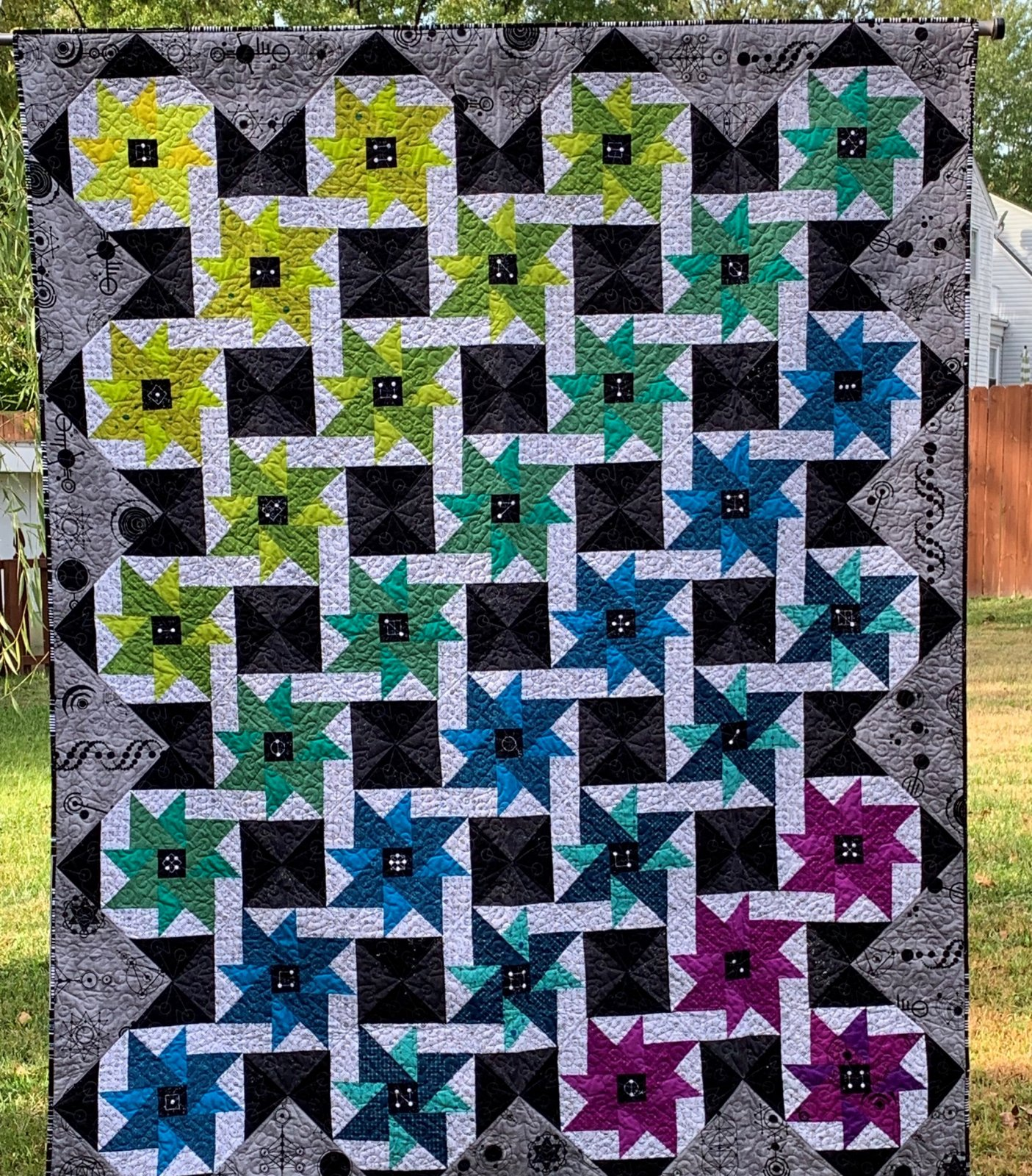 Interspaced quilt kit