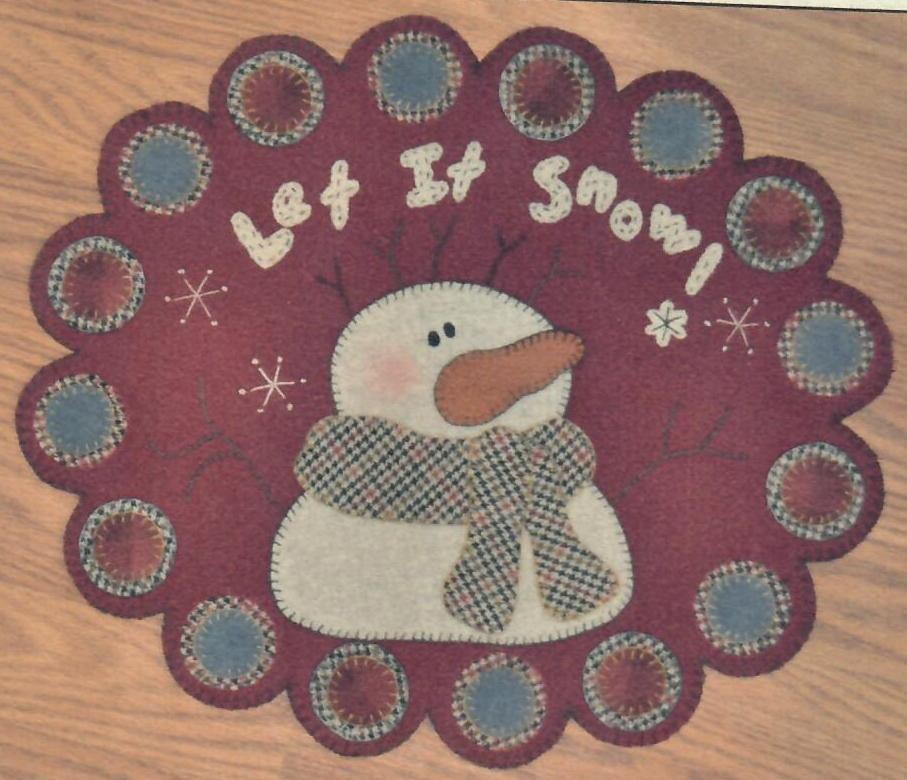 Let it Snow Pennyrug