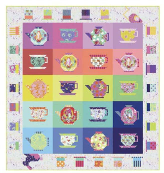 Mad Hatter's Tea Party Quilt Kit