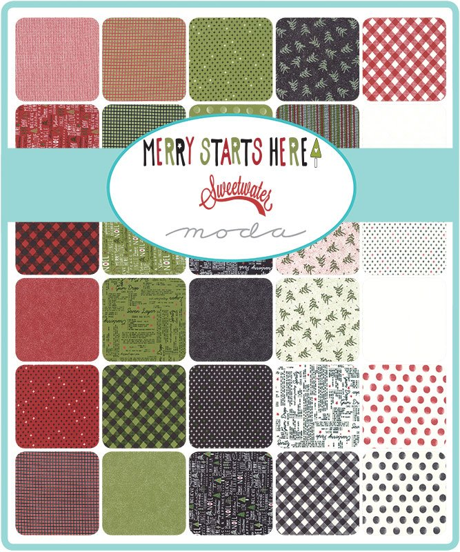 A half yard bundle of Merry Starts Here