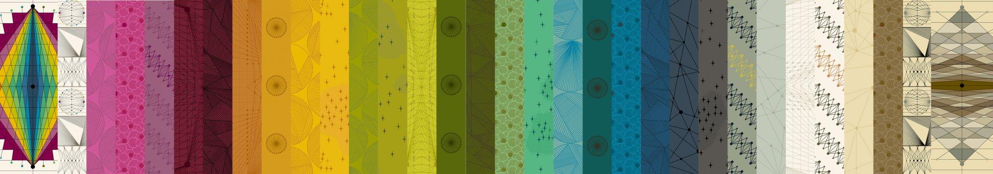 A half yard bundle of Quantum