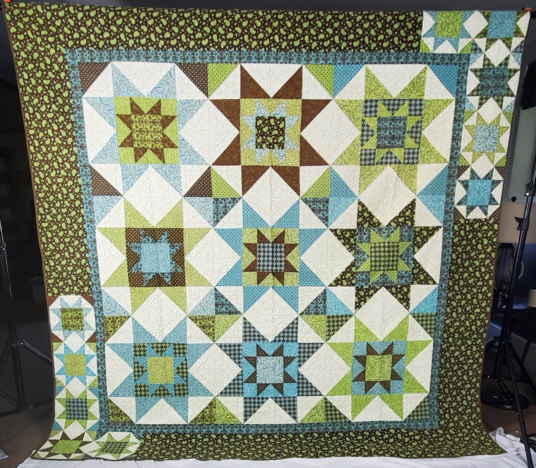 Butterfly Daydreams quilt featuring Moda prints