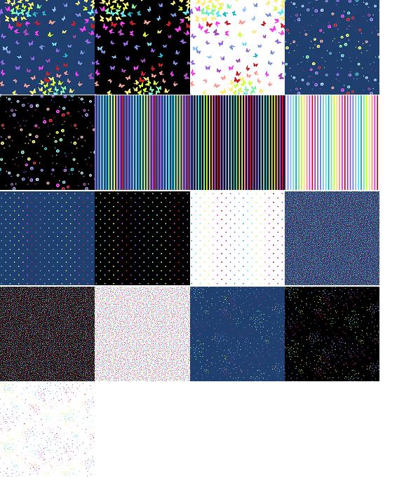 A half yard bundle of Rainbow Sprinkles