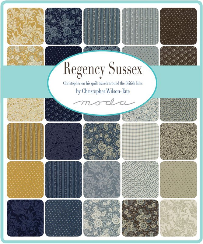A half yard bundle of Regency Sussex