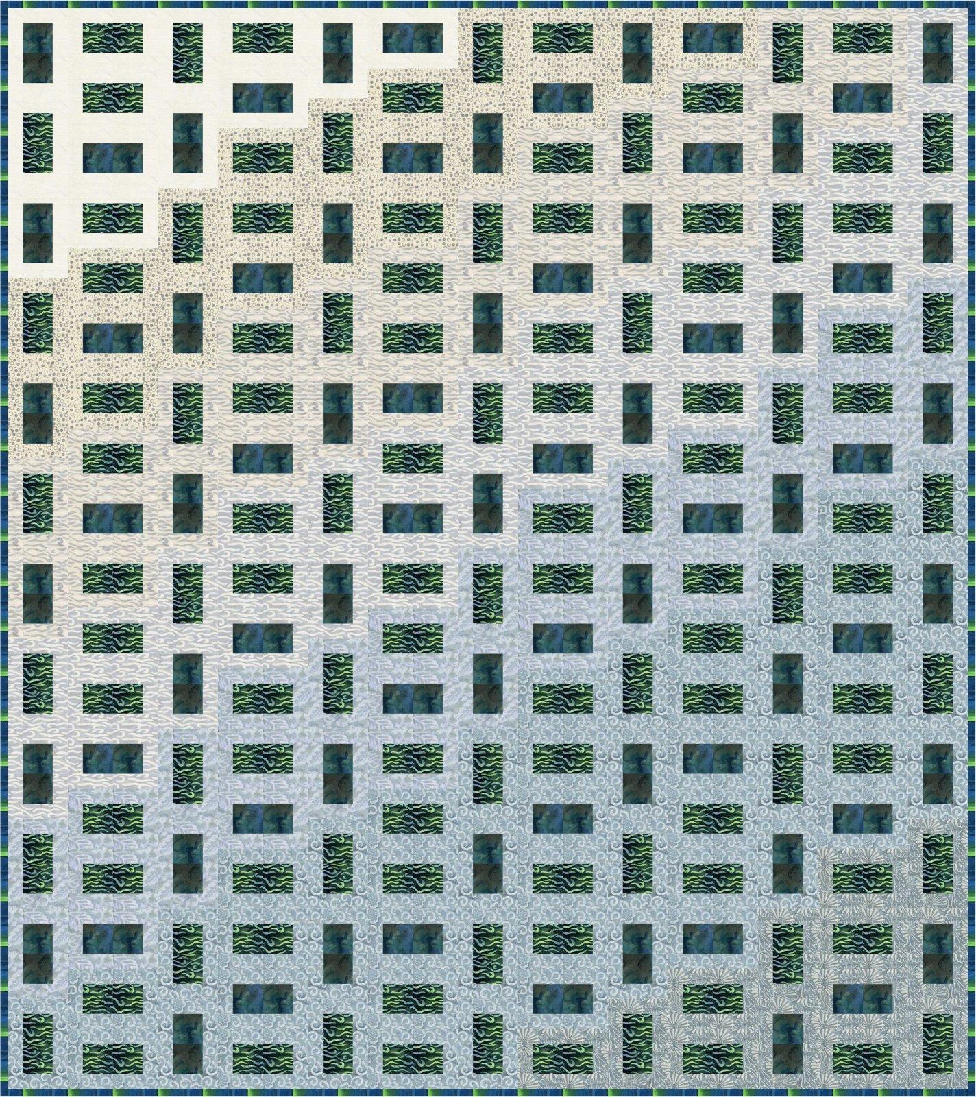 Lapis & Emerald Ripples quilt kit