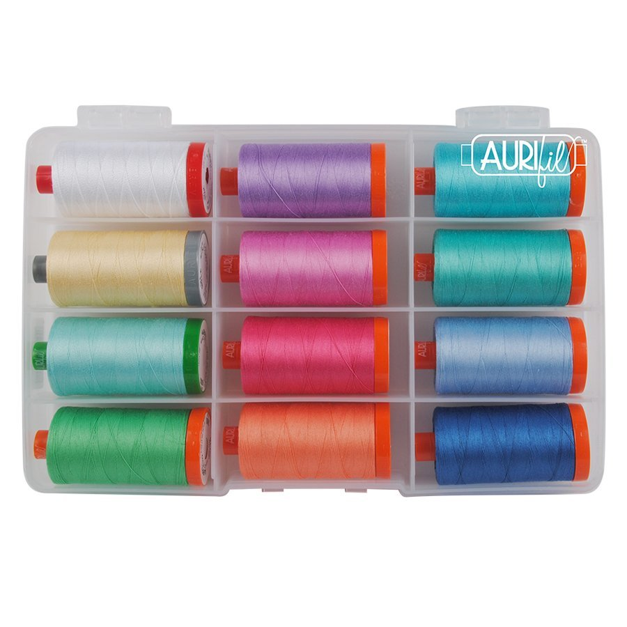 Fearless with Fabric Aurifil Thread collection