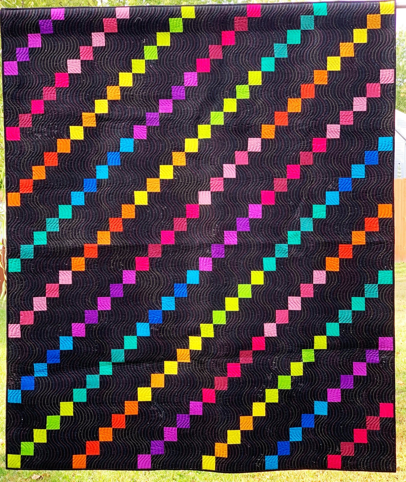 Spectra Rows quilt kit