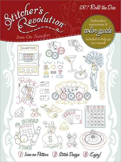 Roll dice embroidery patterns