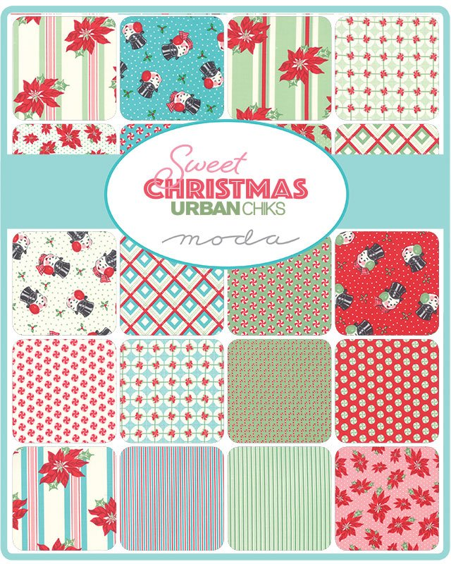 A half yard bundle of Sweet Christmas