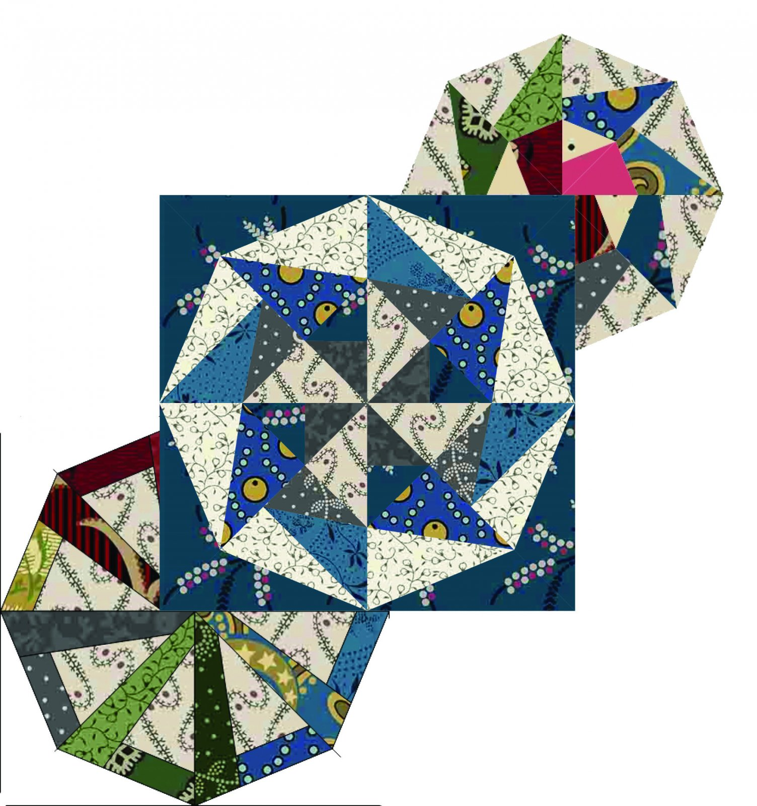 2020 Quiltmania Mystery templates