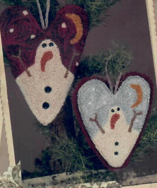 Tattered Snowman Hearts