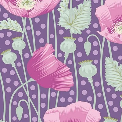 Lilac poppies