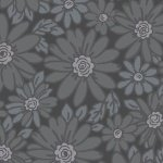 Dark grey packed daisies