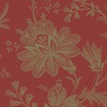 Red floral toile