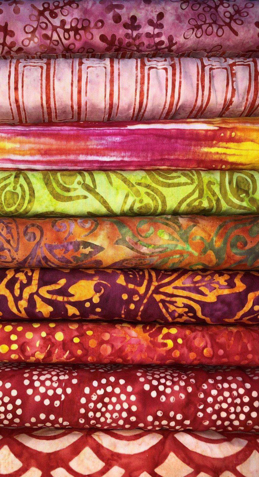 Warm batiks bundle