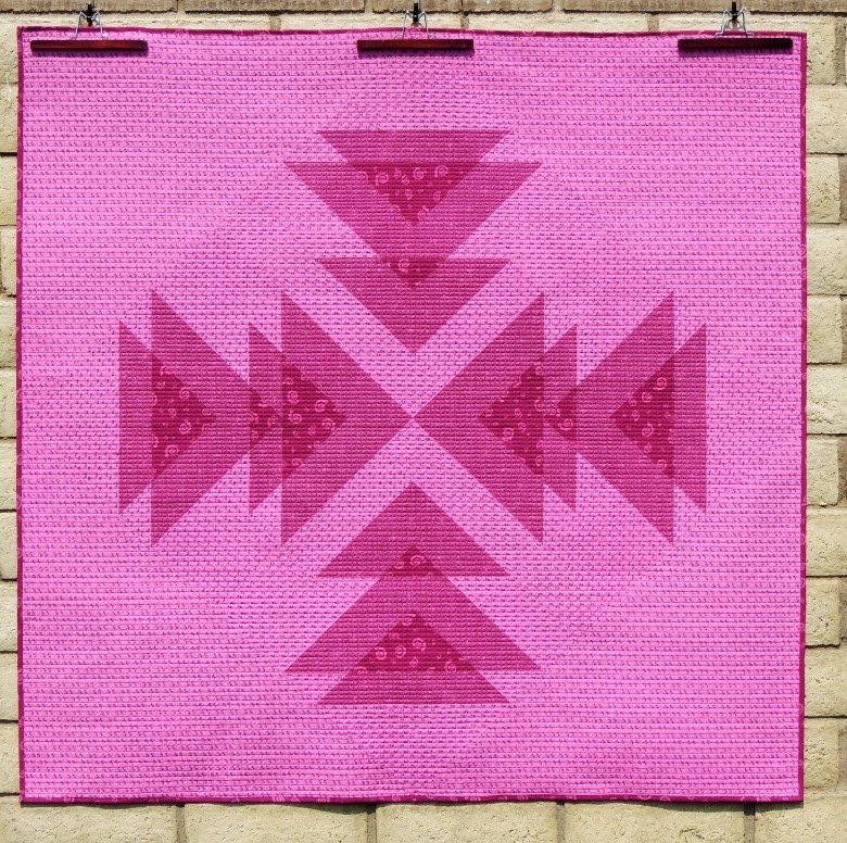 Wayward Transparency quilt in pink