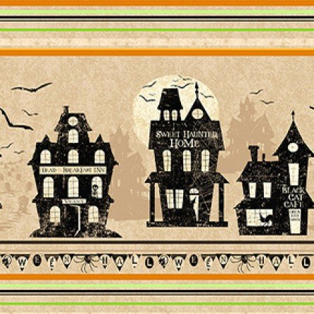 Tan haunted house stripe