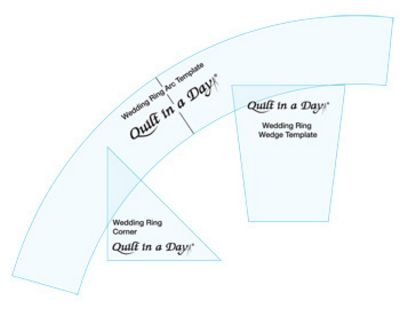 Quilt in a Day Double Wedding Ring Templates with Arc, Corner, and ...